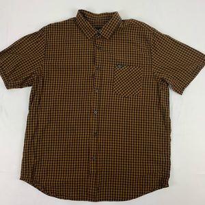 Obey Men's Button Up Shirt.